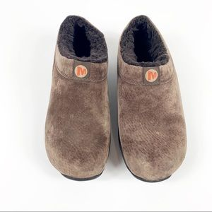 Men's Merrell Brown Fur Lined Clogs Size 8